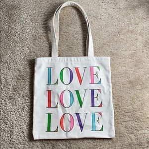 Kate Spade LOVE Canvas Book Tote
